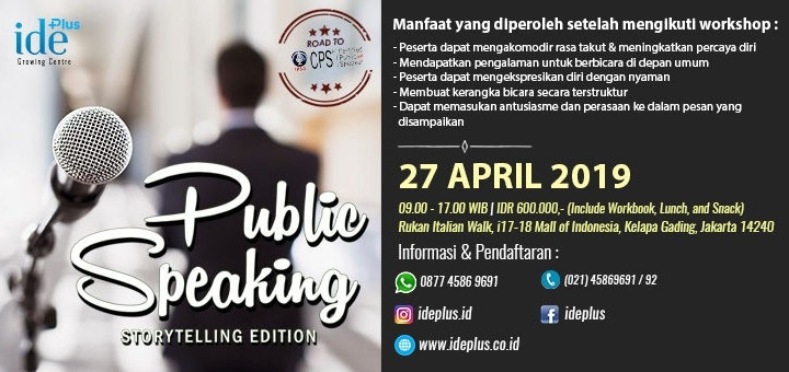Public Speaking - Storytelling Edition April 2019